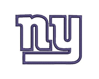 6 sizes - New York Giants Applique, Football Team Logo Machine Embroidery Design, instant download machine embroidery pattern