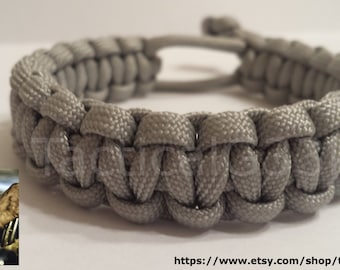 Paracord Bracelet Mad Max Style - Grey