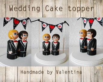 Wedding cake topper Mr. & Mr. / wedding cake figure