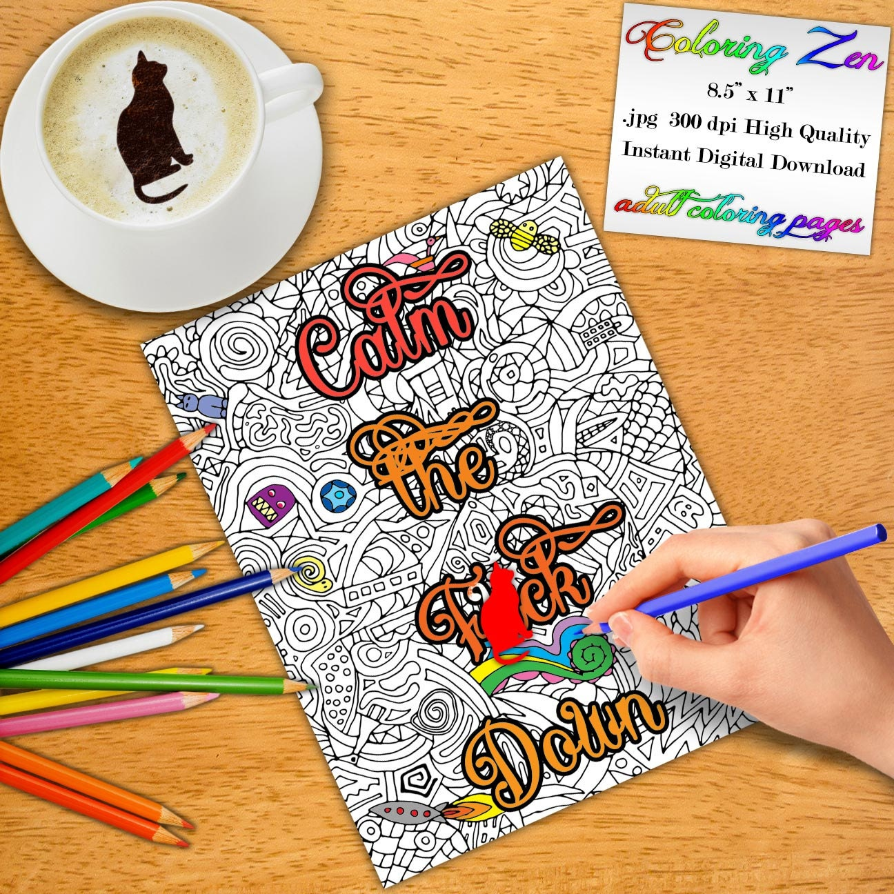 Swearing colouring in book nz -  Zoom