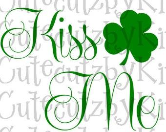 St Patrick's Day SVG-Kiss Me