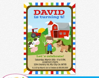 Farm Party Printable Invitation
