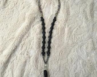 Long Tassel Beaded Necklace