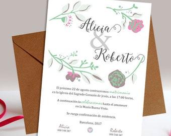 Printable wedding Paradise