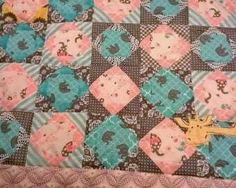 Elephant and Friends Quilt