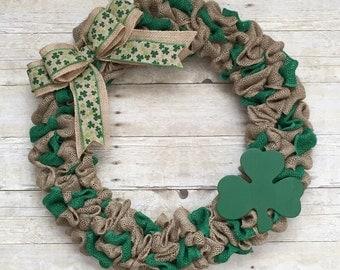 St pattys wreath, st patricks day, st pattys day, shamrock wreath, green wreath