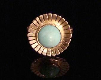 18ct retro turquoise ring