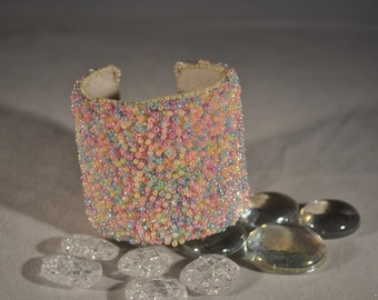 Party Color Beaded Bracelet/Cuff
