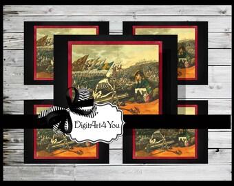Greeting Card/Cards/Skeleton/Soldier/Grim Reaper/Soldier/France/French/War/Vintage Scene/DIY Printable Card/Vintage Collage/Blank Cards