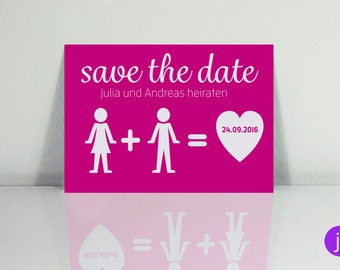 Save the date postcards (pictogram)