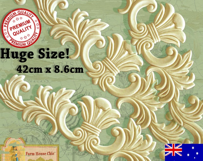 3 x Large French Provincial Ornamental Furniture Mouldings Appliques Decorations Resin Furniture Appliques