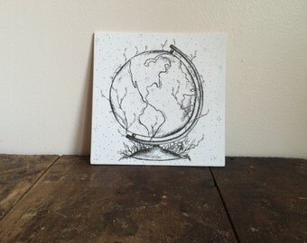 Natural Earth- Ink Art, Ink Drawing, Canvas Art, Pen and Ink Drawing, Original Drawing