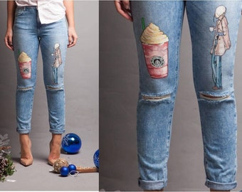 LAB151 offers hand-painted jeans which underlines individuality & uniquness of Ladies worldwide!