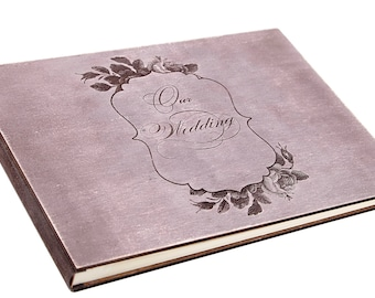 Wedding guest book.Wooden Wedding Guest Book .