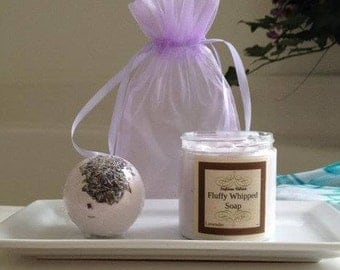 Assorted Scents Bath Bomb Set/Whipped Soap Gift Set/Hand Whipped/Gift Set/Whipped Creme Soap/