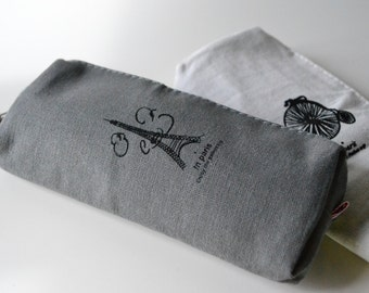 Box Paris-clutch bag with zipper