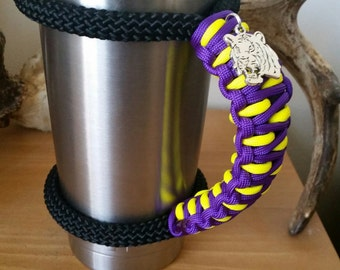 Yeti \RTIC Handle in LSU colors with Tiger Charm