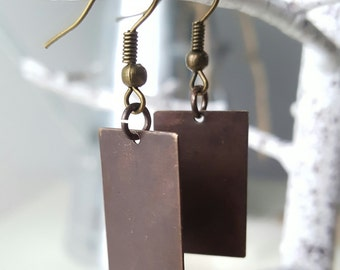Rustic Rectangle Earrings