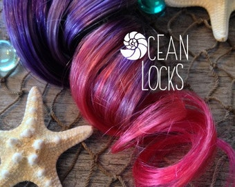 Purple Hair Extensions, Pink Hair, Hair extensions clip in, Ombre hair extensions, Pastel hair extensions, Mermaid Hair
