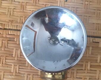 Coal Miner's brass helmet lamp/light