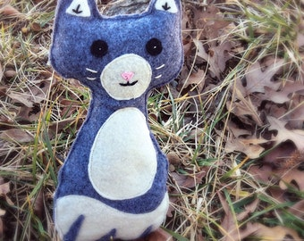 Handmade felt cat toy, cat softie, cat doll- Kitty cat