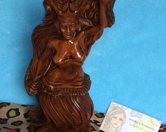 Wooden Tahitian Lady Dancer from Hawaii