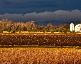 Fall storm moving across farm country