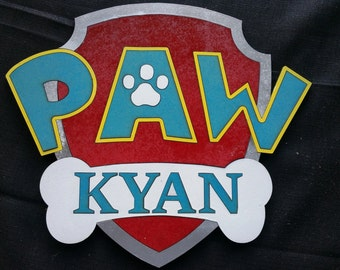 Paw Patrol Personalised Sign
