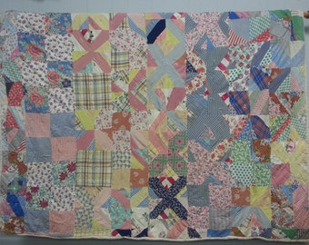 Vintage hand pieced, hand sewn quilt from Georgia