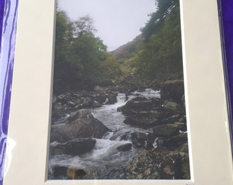 Natural Porthmadog Waterfall Photo in a Mounted Frame