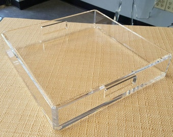 Acrylic Lucite Tray, Acrylic Lucite Serving Tray, Acrylic Gift Ideas