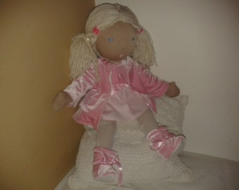 Children's toys - WALDORF INSPIRED DOLLS handmade with love and enjoyment size: 20 inch/ 52 cm