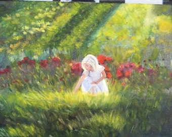 The girl in Garden