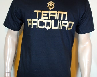 Manny Pacquiao T shirt Mens Team Pacquiao Black Tee Last Fight