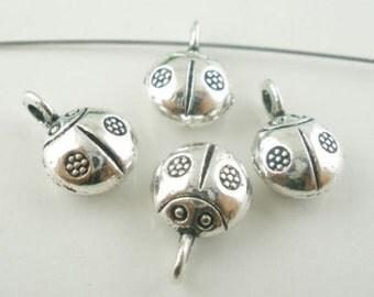 10 Breloques pendants coccinelle