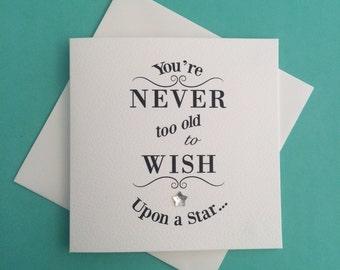 Wish Upon a Star Mini Greeting Card