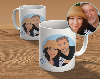 Cup custom from photo - two people