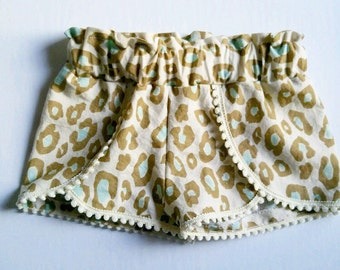Baby/Toddler cheetah coachella shorts