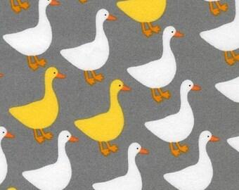 Urban Zoologie Flannel Ducks by Ann Kelle for Robert Kaufman fabric