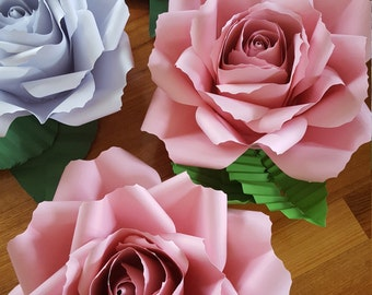 Giant Paper flower Rose Pink/white/red