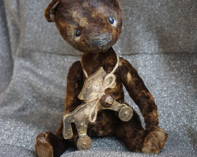 Black Teddy Bear artists , Teddy Bear artists , handmade toy , OOAK teddy bear with