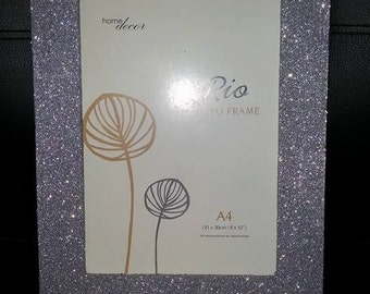 A4 hand glittered picture frame.Wall mounted only