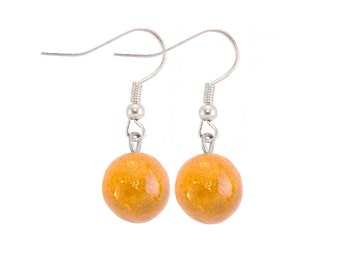 Yellow ochre earrings