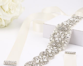 "SALE - 36"" L Rhinestone Belt Wedding Dress Belt Bridal Bridesmaid Dress Belt Wedding Sash Crystal Rhinestone Sash Belt"