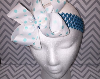 Turquoise hairbow