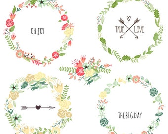 Clip Art Flower Garland