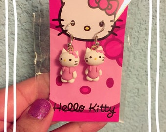 Hello Kitty Inspired Earrings
