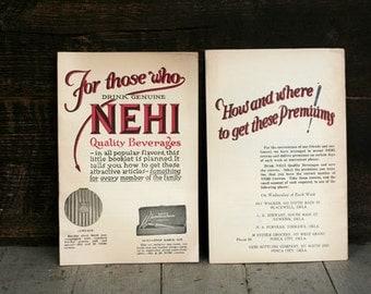 Vintage Nehi Premium Booklets - Ephemera - General Store - Altered Art - Mixed Media - Assemblage - Scrapbooking