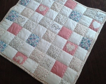 Baby quilt in handmade, patchwork, new born, infant, toddler, sleeping bag