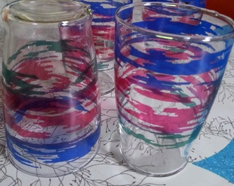 Juice Glasses Colorful Vintage Juice cups